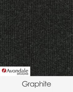 Avondale Broadrib Graphite Marine Carpet