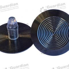 Discrete 316 Tactile Stud w Black PVD Coating & plug 8 5 x 18 5mm plug