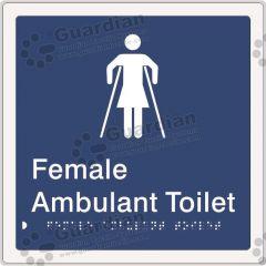 Female Ambulant Toilet Blue