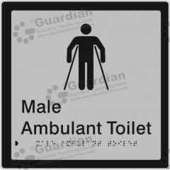 Male Ambulant Toilet Silver