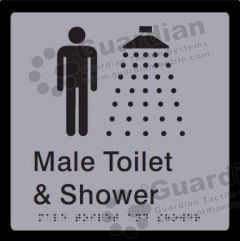 Male Toilet and Shower Silver