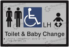 Unisex Accessible and Baby Change LH Silver