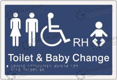 Unisex Accessible and Baby Change RH Blue