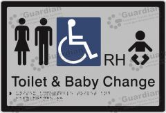Unisex Accessible and Baby Change RH Silver