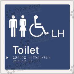 Unisex Accessible Toilet LH Blue