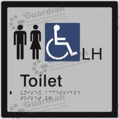 Unisex Accessible Toilet LH Silver