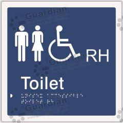 Unisex Accessible Toilet RH Blue