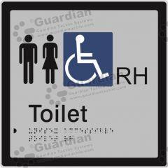 Unisex Accessible Toilet RH Silver