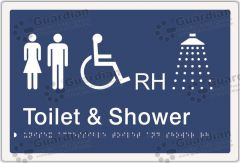 Unisex Accessible Toilet and Shower RH Blue