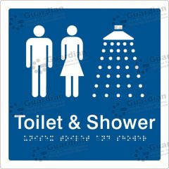 Unisex Toilet and Shower Blue