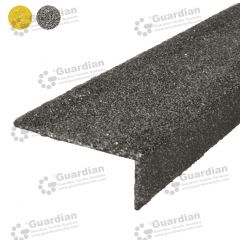 Stair Nosing Fibreglass Black per metre