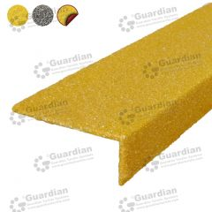 Stair Nosing Fibreglass Yellow with D/S Tape per metre