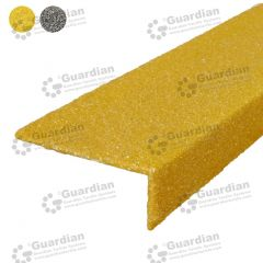 Stair Nosing Fibreglass Yellow per metre