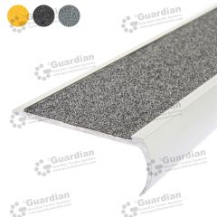 Stair Nosing Aluminium Bullnose Medium Grey Carbide