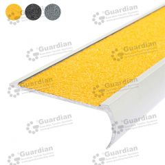 Stair Nosing Aluminium Bullnose Yellow Carbide