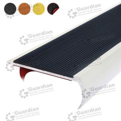 Stair Nosing Aluminium Bullnose Black Polyurethane with D/S Tape