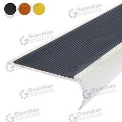 Stair Nosing Aluminium Bullnose Black Polyurethane