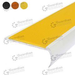 Stair Nosing Aluminium Bullnose Yellow Polyurethane
