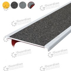 Stair Nosing Aluminium Slimline Medium Grey Carbide with D/S Tape