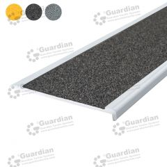 Stair Nosing Aluminium Slimline Medium Grey Carbide