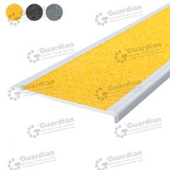 Stair Nosing Aluminium Slimline Yellow Carbide