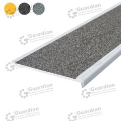 Stair Nosing Aluminium Recessed Medium Grey Carbide