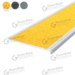 Stair Nosing Aluminium Recessed Yellow Carbide