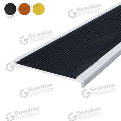 Stair Nosing Aluminium Recessed Black Polyurethane