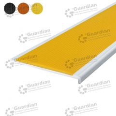 Stair Nosing Aluminium Recessed Yellow Polyurethane