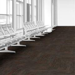 Interface Textured Woodgrains Dark Walnut 250mm x 1000mm x 4.5mm