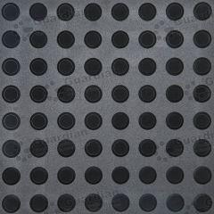 Warning Tactile Black 400mm x 400mm