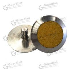 Discrete 316 Tactile Stud w Yellow Carborundum 6 x 15mm stem