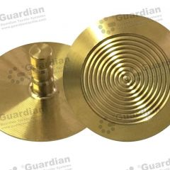Discrete TPU Tactile Bladed Stud w Gold PVD Coating 6 x 15mm stem