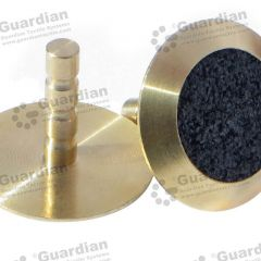 Discrete Brass Tactile Stud w Black Carborundum 6 x 25mm stem