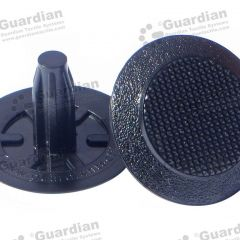Discrete TPU Tactile Bladed Stud Black 8 x 20mm stem