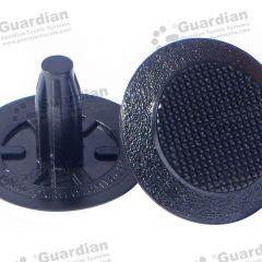 Discrete TPU Tactile Bladed Stud Black 8 x 20mm stem