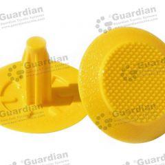 Discrete TPU Tactile Bladed Stud Yellow 8 x 20mm stem