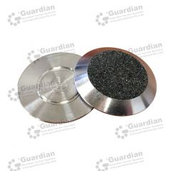 Discrete Warning Tactile 316 Stud w black carborundum flat button