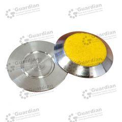 Discrete 316 Tactile Stud w Yellow Carborundum (Flat) button