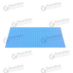 Warning Tactile Drilling Template A Galvanised 1400 x 600 x 8mm hole