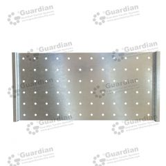 Warning Tactile Drilling Template A Galvanised 600 x 300 x 8mm hole