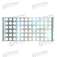 Warning Tactile Drilling Template B Galvanised 600 x 300 x 35